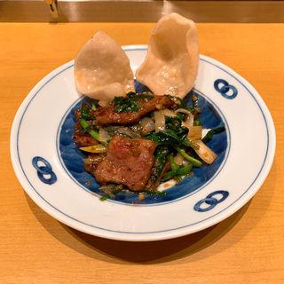 レバニラ炒めXO醬ソース(新潟 三宝亭 東京ラボ 宮益坂店)