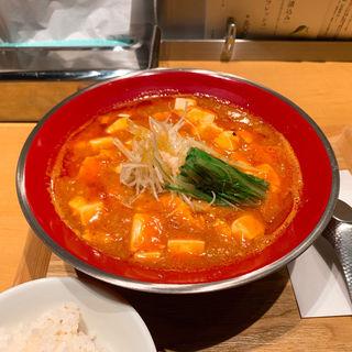 海老辛麻婆麺(新潟 三宝亭 東京ラボ 宮益坂店)