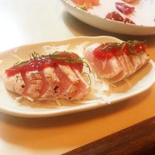 ささみのタタキ梅肉ソース(ハラダ )