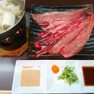 牛タンのしゃぶしゃぶ(串宝)