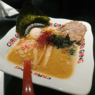 かに味噌ラーメン味玉のせ(クラブギャング)
