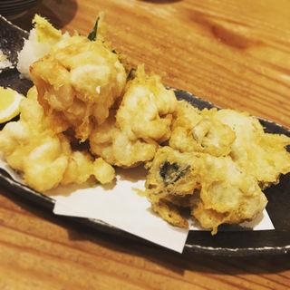 カキと白子の天ぷら(なかよし )