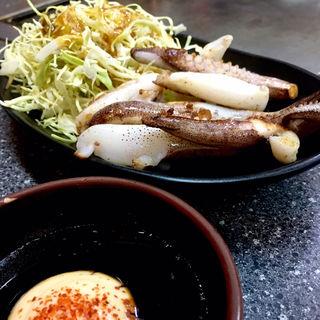 イカ下足焼(博多お好み焼き 一番星 若宮店)