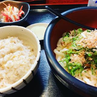 冷やしカレーうどん定食(清元 (udon kiyomoto))