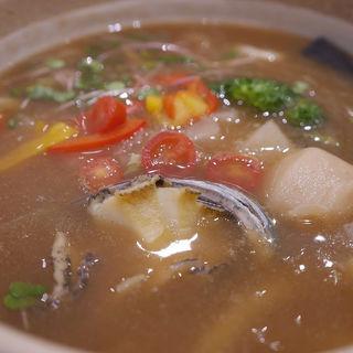 蒸し鮑と野菜の中華あんかけうどん(ウドンダイニング コナ ミズ シオ (UDONダイニング KONA×MIZU×SHIO))