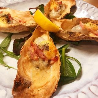 牡蠣のオーブン焼き(いっちょん )