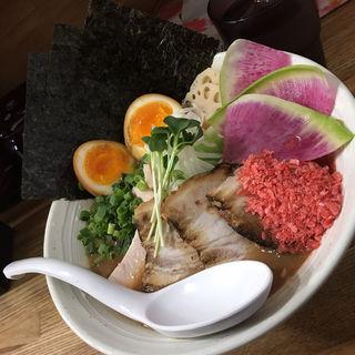 海老味噌ラーメン スペシャルトッピング(横須賀 らー麺 しろ)