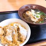 日替りランチ③(かつ丼+天ぷらそば)(もとや食堂 )