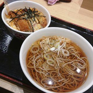 ミニカツ丼セット(いろり庵きらく 川崎店)