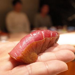 鮪中トロ漬け(初音鮨 (はつねすし))