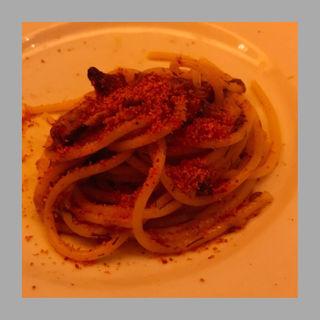 マグロのカラスミスパゲッティ