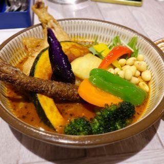 チキンと野菜(野菜スープ)