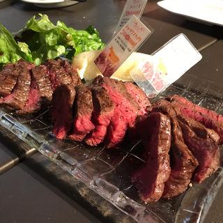 黒毛和牛ステーキ稀少部位 食べ比べ三種盛(デル・ソーレ 道頓堀 )