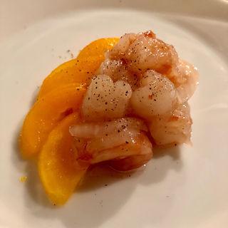 赤海老のカルパッチョ ラム酒風味(コノ花まひろ )