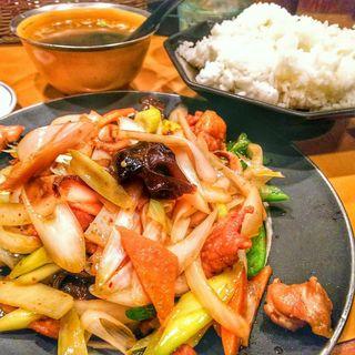 鶏肉ネギ炒め定食(味の店 錦 (ニシキ))