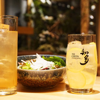 知多檸檬ハイボール(炭火・焼き鳥 鶫(つぐみ) 中洲川端店)