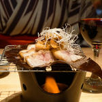 糸島豚の朴葉焼き