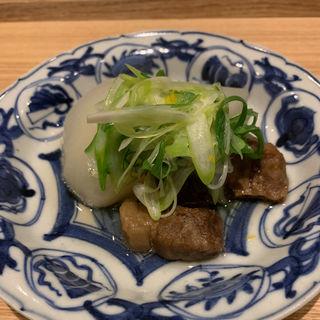 牛肉と九条ねぎと聖護院大根の煮込み(井本)