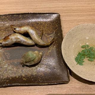 蕗の塔の天ぷら味噌添え(井本)