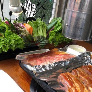 15種野菜と韓国焼肉セット(くるむ サンパ店 )
