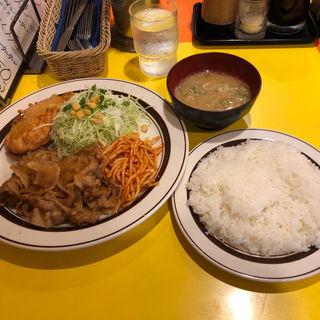 オリエンタルライス&メンチかつのセット(キッチンABC 池袋東口店)
