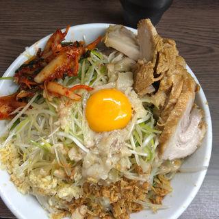 小豚汁なし、ニラ、ネギ、ニンニク、あぶら(ラーメン二郎 横浜関内店)