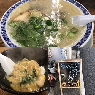 日替りミニ丼(肉にら丼)