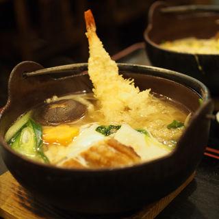 天ぷら入り鍋焼きうどん(さぬき手打ちうどん 銭形 )