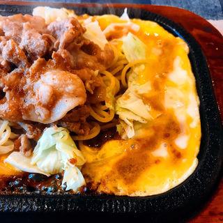 ポークの鉄板焼き(カフェ・ド・ポマト)