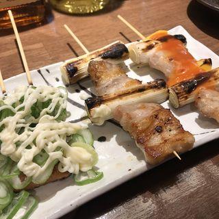 豚バラ3種盛り合せ(立呑み焼きとん大黒 神田店)