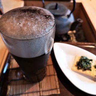 ほうじ茶ビール 茶葉のおつまみ付き