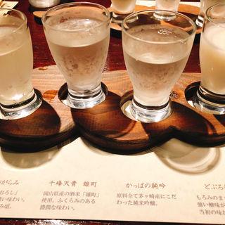 地酒の4種 飲み比べ
