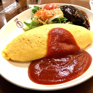 オムライス&ハンバーグ(洋食や 三代目 たいめいけん)