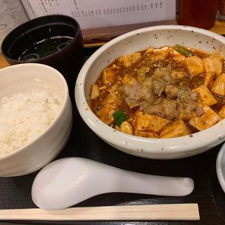 麻婆マルチョウ定食(もつ焼き 栄司 )
