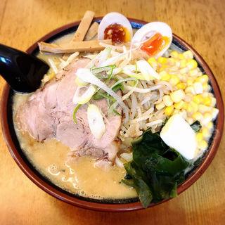 みそらーめん+味玉・バター・コーン(トッピング)(北海道ラーメンはせ川 )