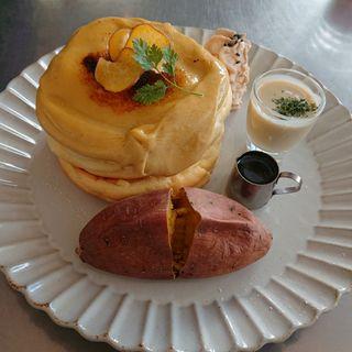 種子島熊野農園安納芋の焼き芋パンケーキ「紅」(レインボーパンケーキ (RAINBOW PANCAKE))