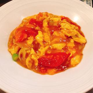 卵とトマトの塩炒め
