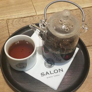 焙煎かりがね茶(パフェとセット料金)(サロン ギンザ サボウ (SALON GINZA SABOU))