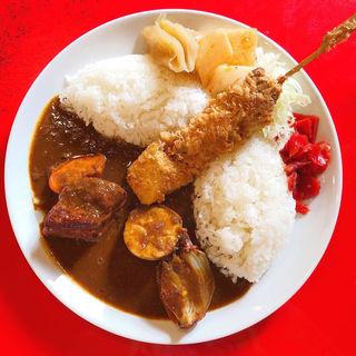 まぐろカツカレー 豚肉増し(東印度カレー商会 築地場外店 )