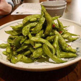 枝豆ペペロンチーノ(つけウドン専門ト酒ト料理 花雷 烏丸店)