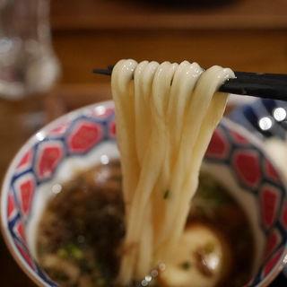 とろ〜り豚角煮と玉子のつけ麺(つけウドン専門ト酒ト料理 花雷 烏丸店)