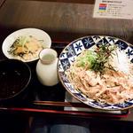 肉辣蕎麦のミニ角煮丼セット