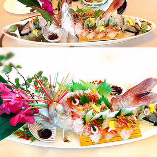 鯛の活き造り(日本料理 みつき )