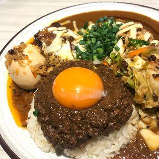 辛口並 豚 キーマ アチャール チーズ 納豆(吉田カレー  )