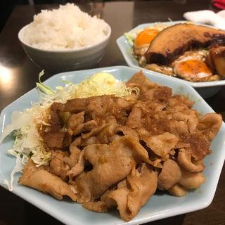 生姜焼き定食 シングル ミニラーメン