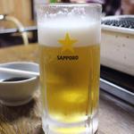 生ビール(ホルモン焼 やしま)