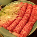 ◆イベリコ豚のつゆしゃぶ【要予約】