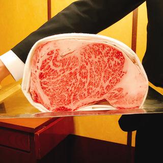 【特選黒毛和牛ロース -A5等級-】 しゃぶしゃぶ定食(ざくろ TBS店 )