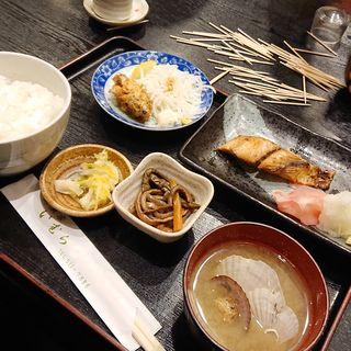 鰆の割焼きとカキフライ(井魚家 いむら)