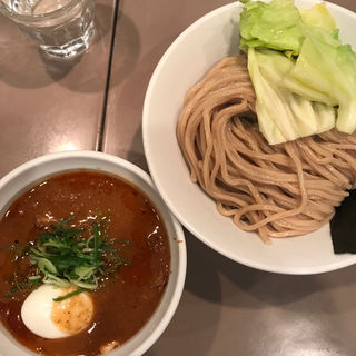 海老みそ肉と玉子入りつけ麺(五ノ神製作所 )